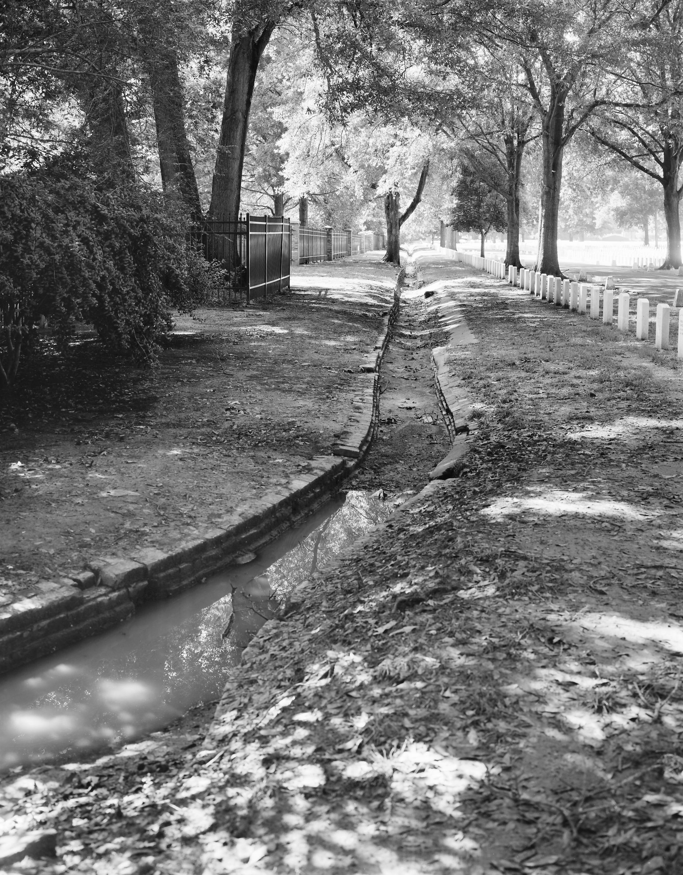 Brick Drainageway - HALS TN-3-90 (Please credit Daniel R. Pratt and the Historic American Landscapes Survey)