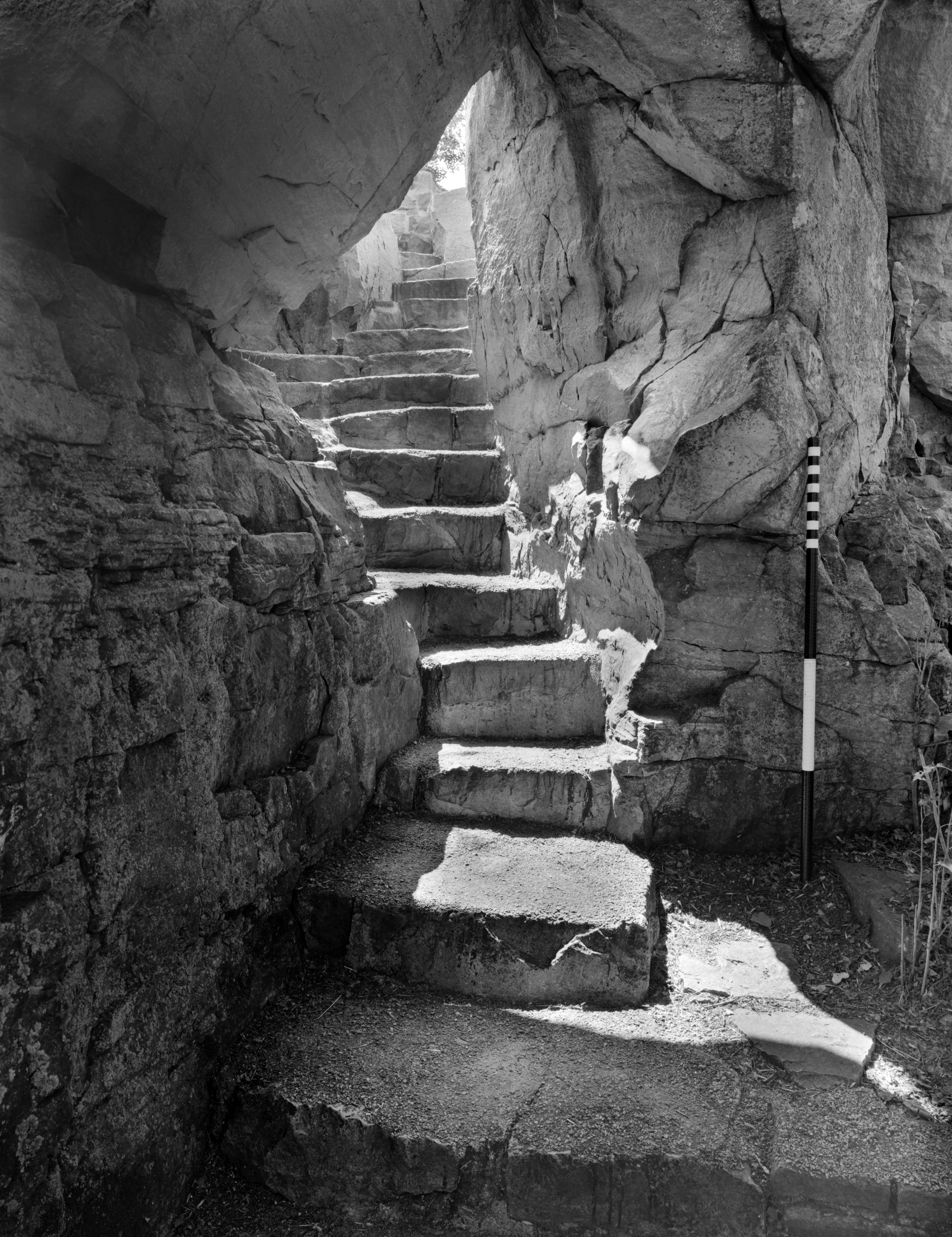 HALS MN-5-02 Pipestone National Monument Sioux Quartzite Steps to Clifftop (Please credit Daniel R. Pratt and the Historic American Landscapes Survey)